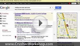 Melbourne SEO Services Google Places Page Sample
